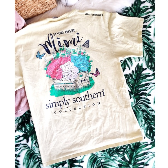 """5632d670 Simply Southern """"Blessed Mimi"""" tee 🌻. M_5ae7ace8a825a642bc53d81f"""